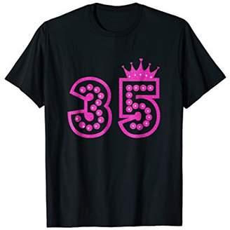 35th Birthday Pink Crown Princess shirt