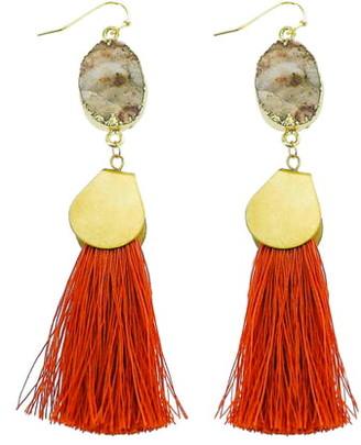 Panacea Sunstone Tassel Earrings