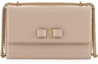 Salvatore Ferragamo Ginny Vara Medium Flap Bag, Beige f381c7de9c