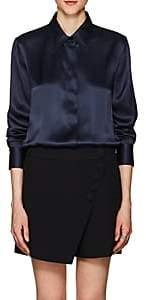 Giorgio Armani Women's Silk Charmeuse Blouse - Navy