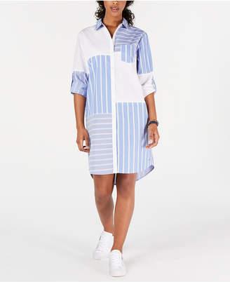 Tommy Hilfiger Patchwork-Print Shirtdress