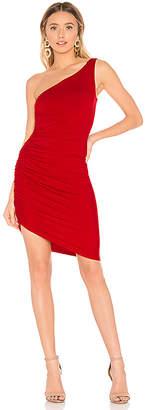 Susana Monaco One Shoulder Side Gather Dress