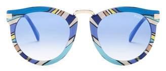 Emilio Pucci 51mm Rounded Sunglasses