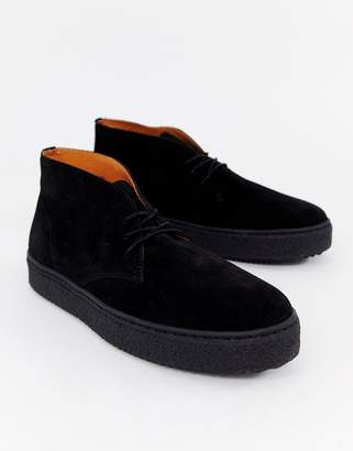 Zign Shoes cupsole desert boots in black suede