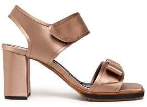 Marni Bow-Detailed Silk-Satin Sandals