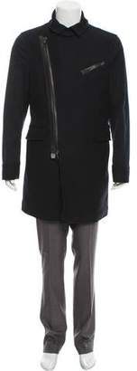 Salvatore Ferragamo Asymmetrical Wool Coat w/ Tags