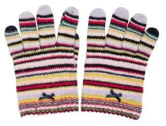 Paul Smith Girls' Striped Knit Gloves