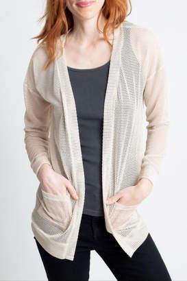 Glam Mesh Cardigan Sweater