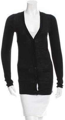 Vera Wang Semi-Sheer Wool Cardigan $55 thestylecure.com
