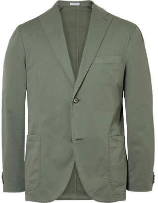 Boglioli Army-Green Slim-Fit Unstructured Stretch-Cotton Twill Suit Jacket - Men - Green