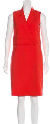 Halston Sleeveless Knee-Length Dress
