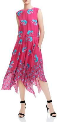 Maje Rushia Floral Print Midi Dress