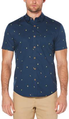 Cubavera Slim Fit Mini Avocado Print Shirt