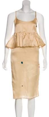 Creatures of Comfort Silk Sleeveless Midi Dress