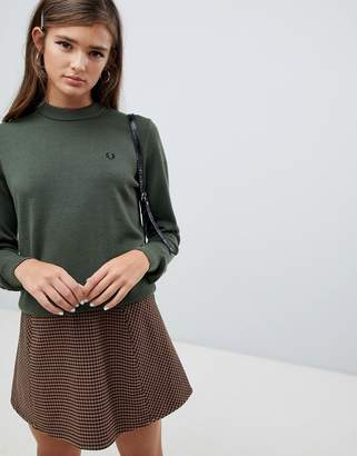 Fred Perry Green Knit Sweater