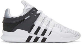 adidas White EQT Support ADV Sneakers