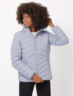 Ozark Trail Blue Feather and Down Quilted Jacket
