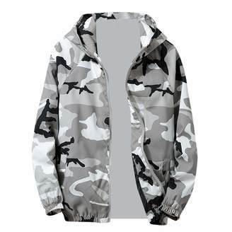 Men Blouse Men Jackets,Dartphew Mens Zip Camouflage Long Sleeve Pocket Hoodies Coat-Sport