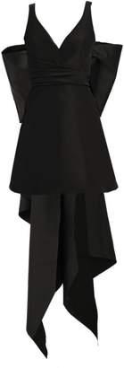 Carolina Herrera Mini V-Neck A-Line Dress