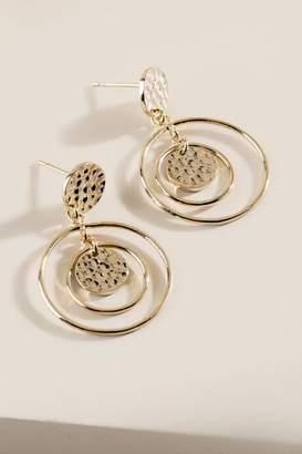 francesca's Jayla Open Circle Drop Earrings - Gold