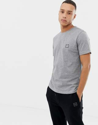 BOSS Tales small logo t-shirt in gray
