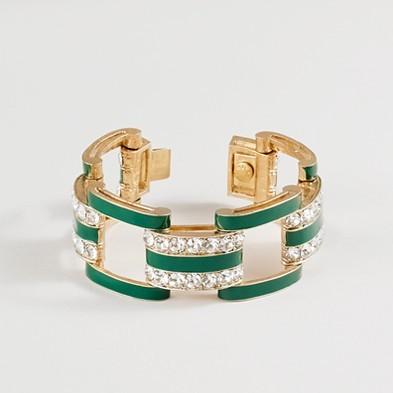 J.Crew Crystal dot hand-enameled bracelet