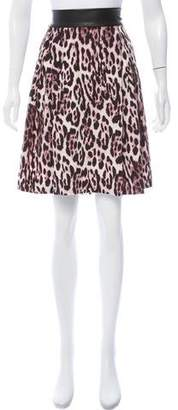 Robert Rodriguez Jaguar Print Mini Skirt