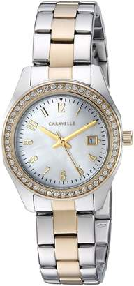 Bulova Caravelle Women's Quartz Stainless Steel Dress Watch, Color:Two Tone (Model: 45M113)