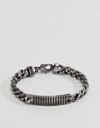 Simon Carter Antique Silver ID Braceclet