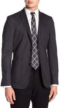 Vince Camuto Scratch Patterned Notch Collar Double Button Blazer