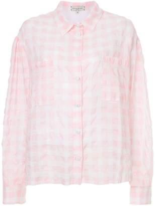 Natasha Zinko gingham long-sleeve shirt