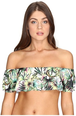 Lucky Brand Coastal Palms Off the Shoulder Bandeau Top $76 thestylecure.com