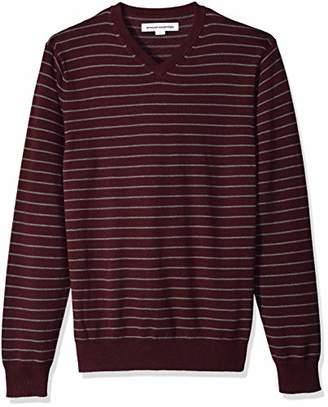 Amazon Essentials Men's Standard V-Neck Stripe Sweater
