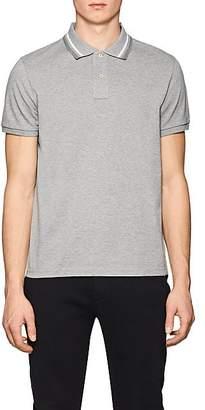 Moncler Men's Cotton Piqué Polo Shirt - Light Gray