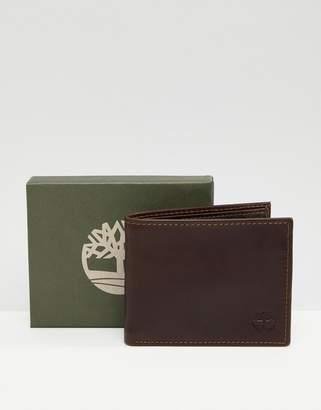 Timberland grafton notch wallet in dark brown