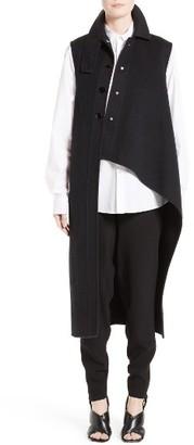 Women's Marni Wool, Alpaca & Cashmere Asymmetrical Vest $2,540 thestylecure.com