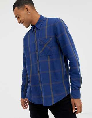 Nudie Jeans Sten window check shirt in blue