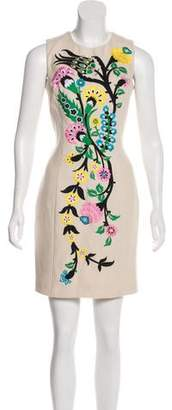 Andrew Gn Linen Embroidered Dress