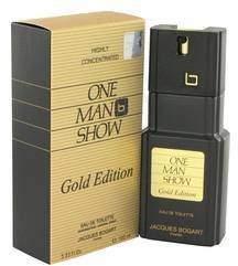 Jacques Bogart One Man Show Gold by Eau De Toilette Spray 3.3 oz (Men)