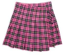 Burberry Little Girl's& Girl's Plaid Wool Skirt