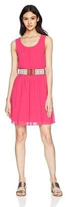 Amy Byer A. Byer Sleeveless Belted Blouson Dress (Junior's)
