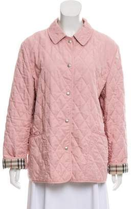 Burberry Quilted Check-Lined Jacket