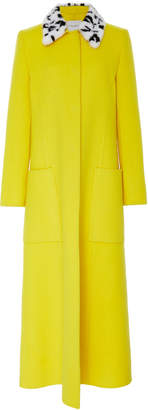 Carolina Herrera Fur Collar Coat