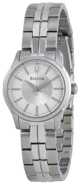 BulovaBulova 96L152 Silver Dial Stainless Steel 28mm Womens Watch