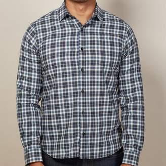 Blade + Blue White, Blue & Grey Plaid Flannel Shirt - Benny