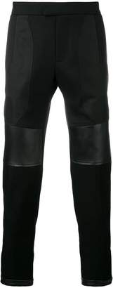 Les Hommes lambskin patch cropped trousers
