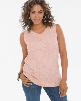 Chico's Chicos Reversible Solid-Textured Tank