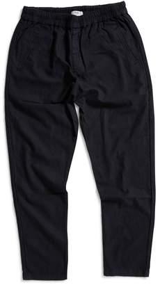 Folk Linen Trousers Black