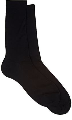 Barneys New York Men's Cotton Piqué Mid-Calf Socks $35 thestylecure.com