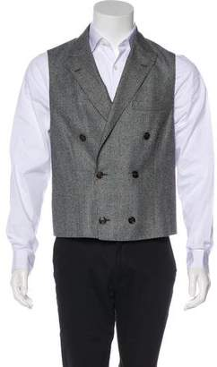 Brunello Cucinelli Double-Breasted Glen Plaid Wool Suit Vest w/ Tags
